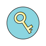 Key Icon in Flat Royalty Free Stock Photography