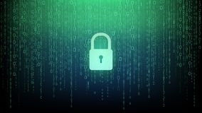 Key icon security computer system background stock illustration