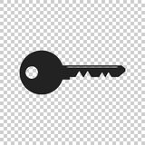 Key Icon vector illustration in flat style isolated. Unlock symb Stock Images