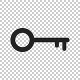 Key Icon vector illustration in flat style isolated. Unlock symb Royalty Free Stock Photos