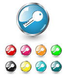 Key icon vector set Royalty Free Stock Photography