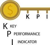 Key icon with word KPI. Royalty Free Stock Photo