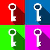 Key icons great for any use. Vector EPS10. Royalty Free Stock Image