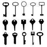 Key icons set on white #1 Stock Photography