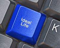 Key for ideal life. Blue Key for ideal life Royalty Free Stock Image