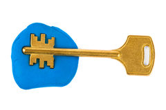 Key impression - security concept Royalty Free Stock Photos