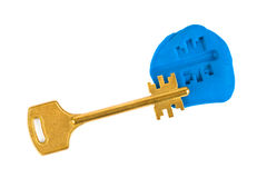 Key impression - security concept Royalty Free Stock Photography