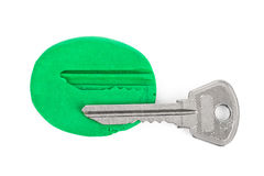 Key impression - security concept Royalty Free Stock Images
