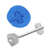 Key impression - security concept Stock Images