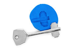 Key impression - security concept Stock Photography
