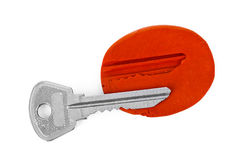 Key impression - security concept Stock Image