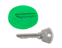 Key impression - security concept Royalty Free Stock Image