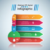 Key infographic. Five colored items. Stock Images