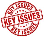 Key issues stamp. Key issues round grunge stamp isolated on white background Stock Photos
