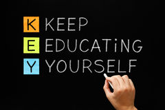 KEY - Keep Educating Yourself Royalty Free Stock Photography
