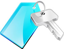Key on Key chain Royalty Free Stock Photo