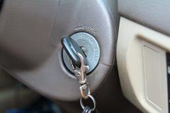 Key in key hole Stock Photo