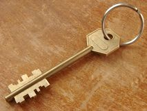 Key with key ring Royalty Free Stock Photo