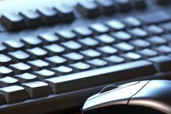 Key keyboard,Mouse. The computer mouse, the keyboard on a background Royalty Free Stock Photos