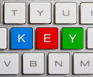 Key On Keyboard Stock Photography