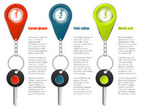 Key and keyholder infographic design Royalty Free Stock Image