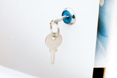 A key in a keyhole Stock Photo