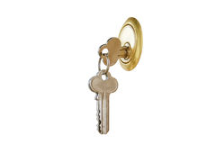key keyhole Fotografering för Bildbyråer