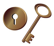 Key and keyhole Royalty Free Stock Image
