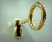 Key in the keyhole Royalty Free Stock Photo
