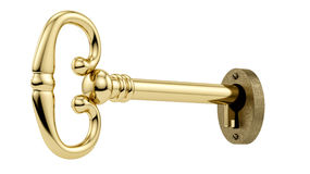 Key in a keyhole Stock Image