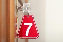 Key in keyhole Stock Photography