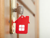 Key in keyhole Stock Images