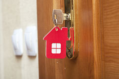 Key in keyhole Royalty Free Stock Image