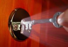 Key and keyhole Stock Photography