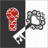 Key and keyhole Royalty Free Stock Photography