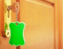 Key in keyhole Royalty Free Stock Image