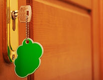 Key in keyhole Royalty Free Stock Photography