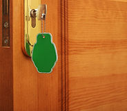 Key in keyhole Stock Photo