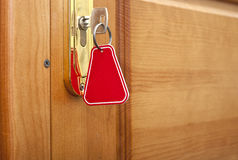 Key in keyhole Royalty Free Stock Photo