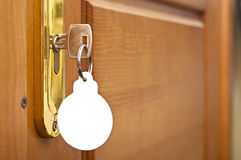 Key in keyhole Royalty Free Stock Photos
