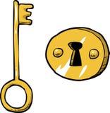 Key with keyhole Stock Photos
