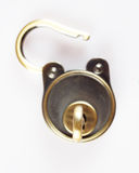 Key in the keyhole Royalty Free Stock Photos
