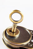 Key in the keyhole Stock Photos