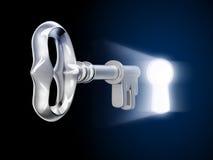 Key and keyhole Stock Images
