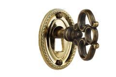 Key in keyhole Royalty Free Stock Photography