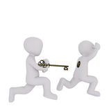 Key and keyhole scene concept Royalty Free Stock Photos