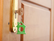 Key in the keyhole Stock Photography