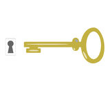 Key and keyhole vector, Royalty Free Stock Images