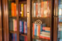Key of knowledge. Key show in shallow depth of field accentuating the unlocking of knowledge stock image