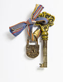 key lås Royaltyfri Foto